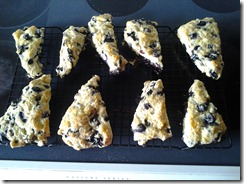 Blueberry Scones Baked June 18 2012