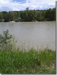 Bow River from Baker Park June 18 2012