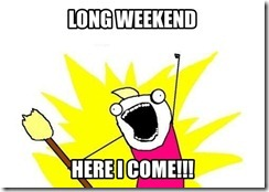 Long Weekend August 3 2012