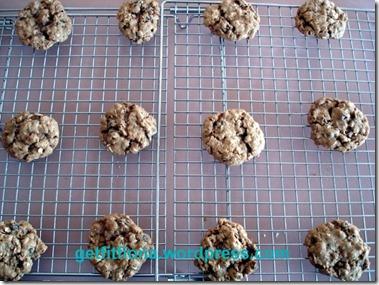 Oatmeal Raisin Cookies October 1 2012