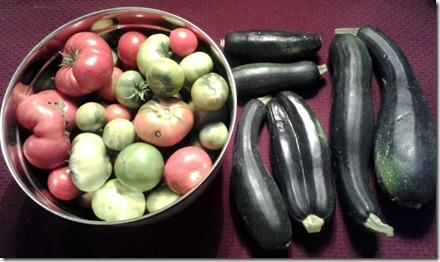 Garden Harvest October 1 2012 (1)