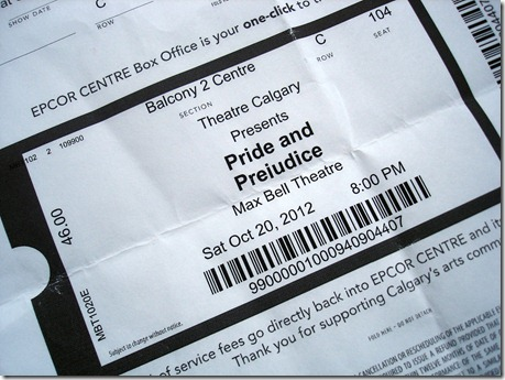 Pride and Prejudice October 25 2012