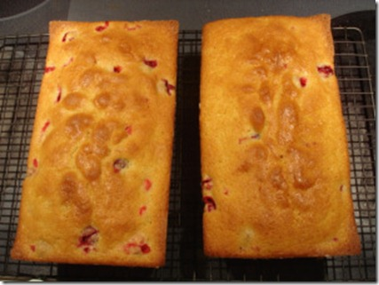 Cranberry Poundcake November 15 2012