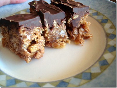 Chocolate Peanut Butter Cereal Bars November 25 2012 (1)