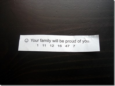 Fortune Cookie March 22 2013